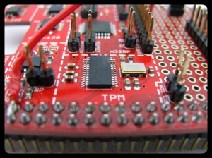Atmel I2C TPM AT97SC3204T ships with a compliance EK.